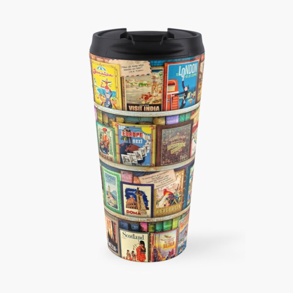 Travel Guide Book Shelf Travel Mug