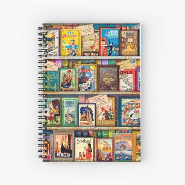 Travel Guide Book Shelf Spiral Notebook