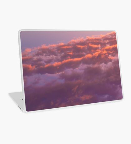 Colorful sky in the evening (orange, pink and purple clouds at sunset) Laptop Skin