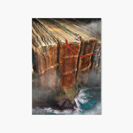 Cliffhanger Art Board Print