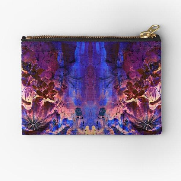 Violet Blue Lotus Spirit Zipper Pouch
