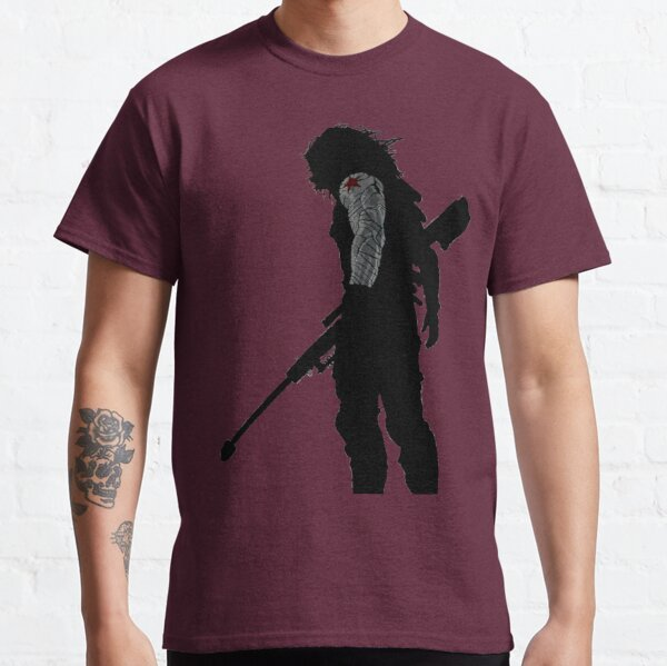 Winter soldier silhouette Classic T-Shirt