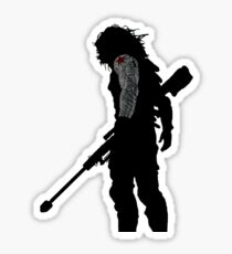 winter soldier silhouette Sticker