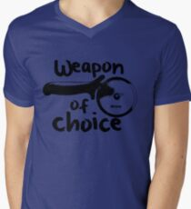 Weapons of choice - Pizza - Black T-Shirt