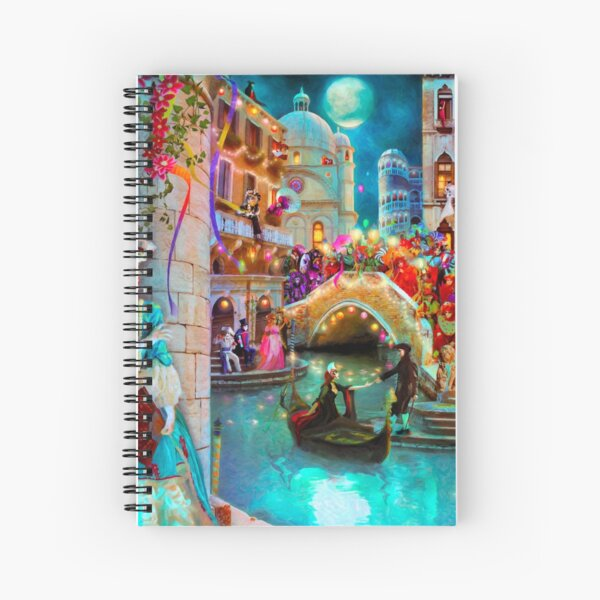 Carnival Moon Spiral Notebook