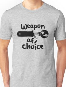 Weapons of choice - Ice Cream - Black Unisex T-Shirt