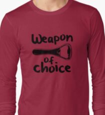 Weapons of choice - Beer - Black T-Shirt