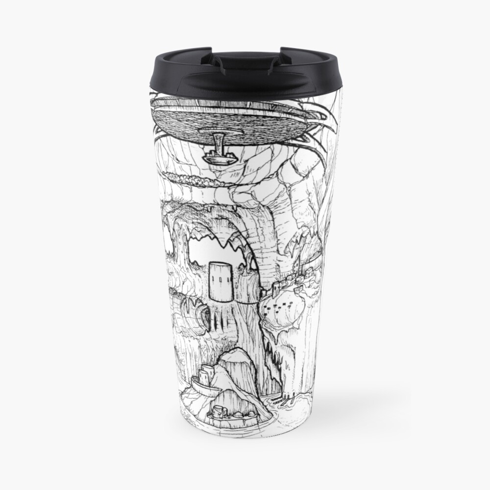 The Cleft of Five Worlds Travel Mug