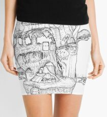 The Cleft of Five Worlds Mini Skirt