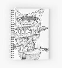 The Cleft of Five Worlds Spiral Notebook