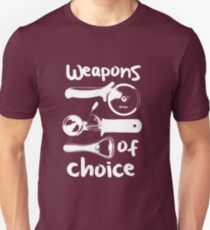 Weapons of choice - Full Set - White T-Shirt