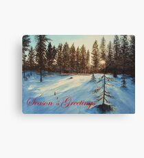 Freezing Forest Season's Greetings Canvas Print