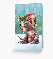 Cataclysm - Sphinx Kitten (Christmas Edition) Greeting Card