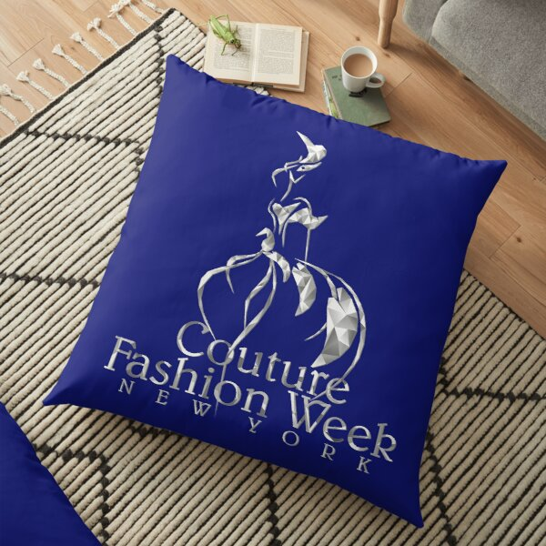 Couture Fashion Week New York Crystal Floor Pillow