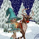 A Witch and a Reindeer by LoneAngel