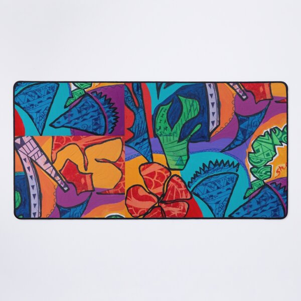 Pacific abstract  Desk Mat