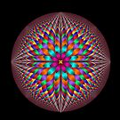 Optical illusion fractal flower by 4Flexiway