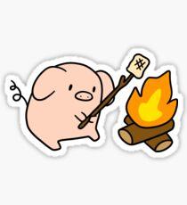 Campfire Pig Sticker