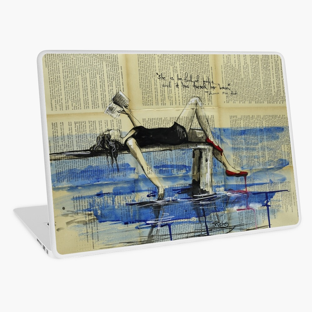 She Is Too Fond of Books Laptop Skin