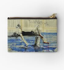 She Is Too Fond of Books Studio Pouch