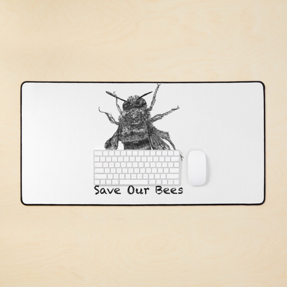 Save Our Bees - featuring Buzzie the Bee Mouse Pad