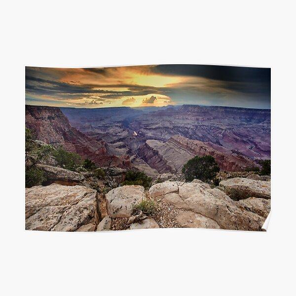 Grand Canyon Sundown Poster