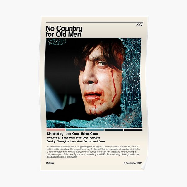 No Country for Old Men (2007) minimalist movie Poster