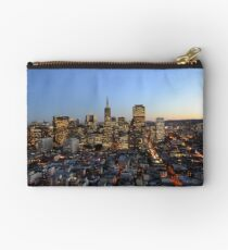 A view of the buildings in San Fransisco Studio Pouch