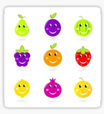 Happy fruit edition : orange, pomegranate, strawberry Sticker
