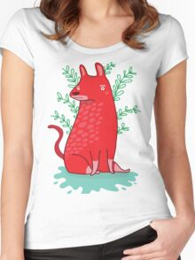 Big red Dog Women's Fitted Scoop T-Shirt