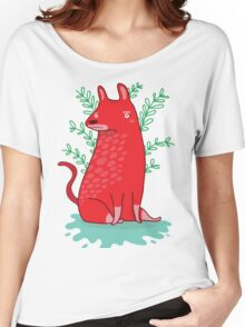 Big red Dog T-shirt femme coupe relax