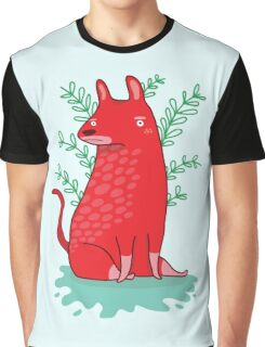 Big red Dog T-shirt Graphique