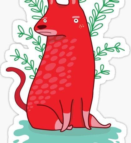 Big red Dog Sticker
