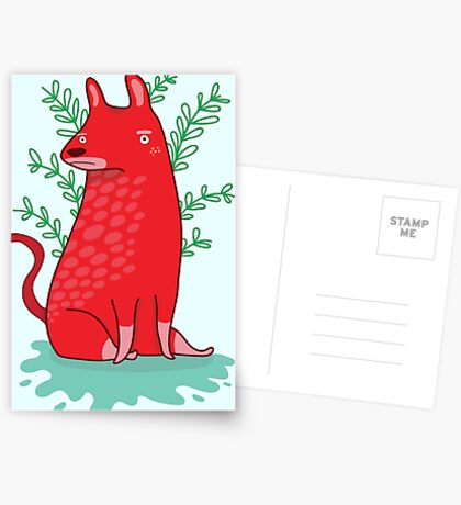 Big red Dog Greeting Card