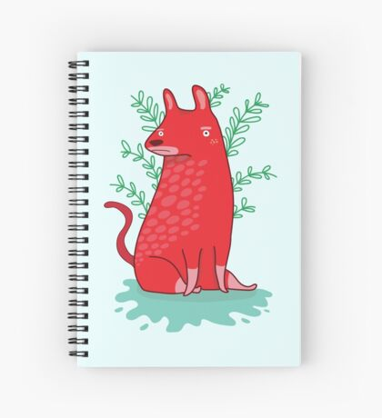 Big red Dog Spiral Notebook