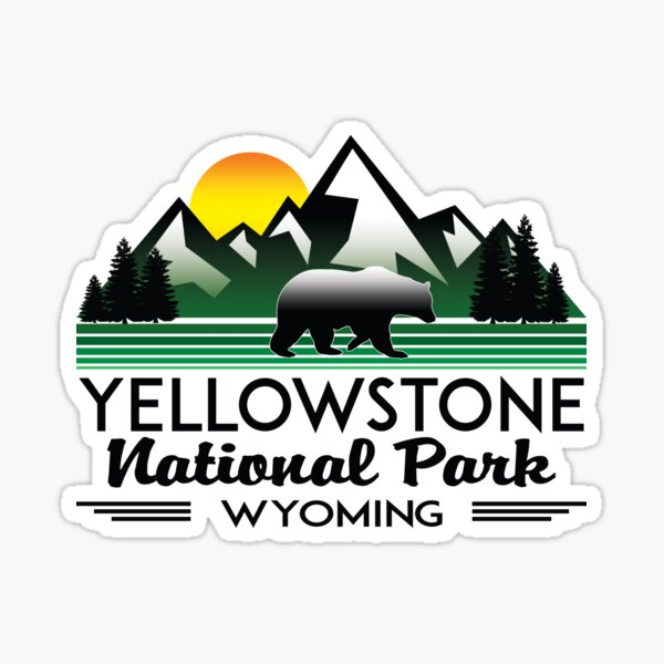 YELLOWSTONE NATIONAL PARK WYOMING MOUNTAINS EXPLORE HIKING CAMPING HIKE CAMP 3 Sticker