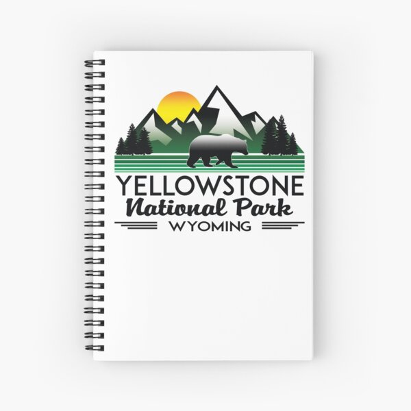 YELLOWSTONE NATIONAL PARK WYOMING MOUNTAINS EXPLORE HIKING CAMPING HIKE CAMP 3 Spiral Notebook