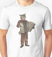 Accordion Cat with Goggles and Mask T-Shirt