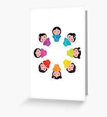 New! Manga characters rainbow collection Greeting Card