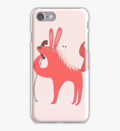 Horse Bunny asking for love iPhone Case/Skin
