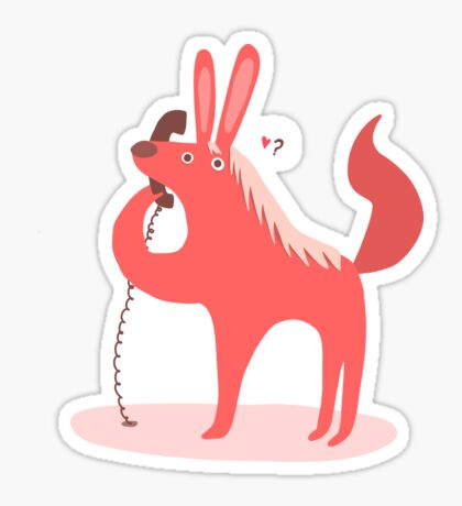 Horse Bunny asking for love Sticker