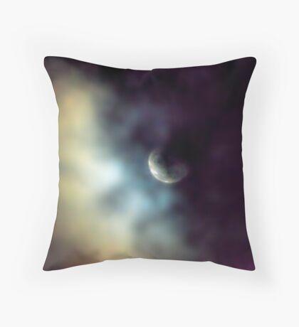 Shy Moon Throw Pillow