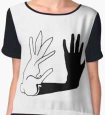 Easter Bunny Shadow Puppet Chiffon Top