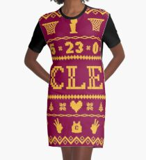CLE Christmas Sweater Graphic T-Shirt Dress