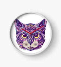 Cabeza de gato (Versión en color) Reloj
