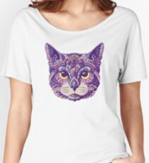 Cat Head (Color Version) Women's Relaxed Fit T-Shirt