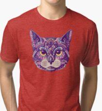 Cat Head (Color Version) Tri-blend T-Shirt