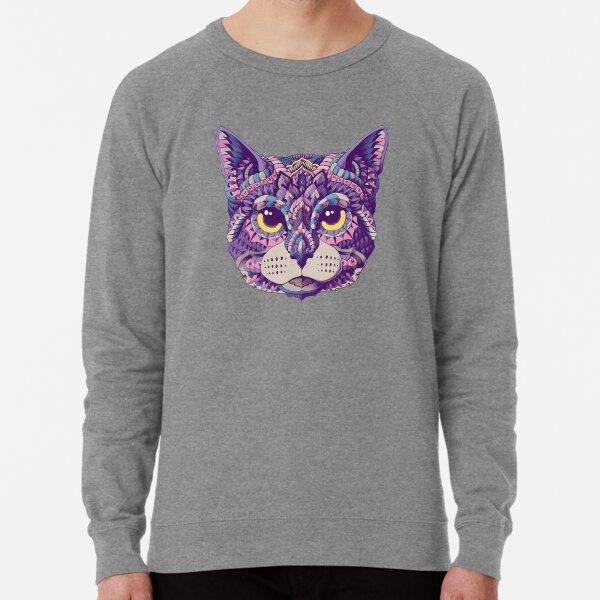 Cat Head (Color Version) Lightweight Sweatshirt