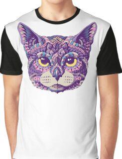Cat Head (Color Version) Graphic T-Shirt
