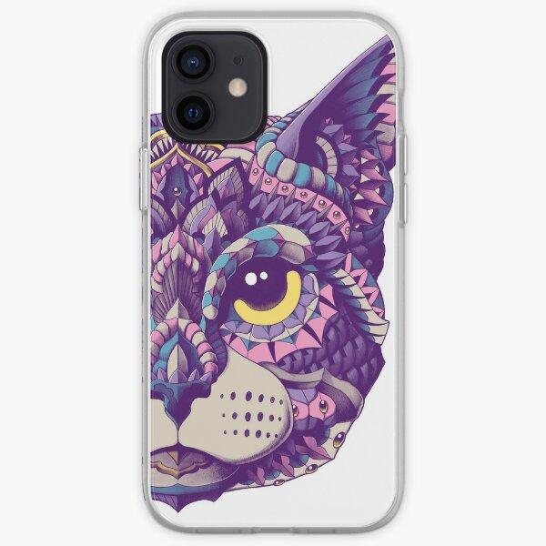 Cat Head (Color Version) iPhone Soft Case